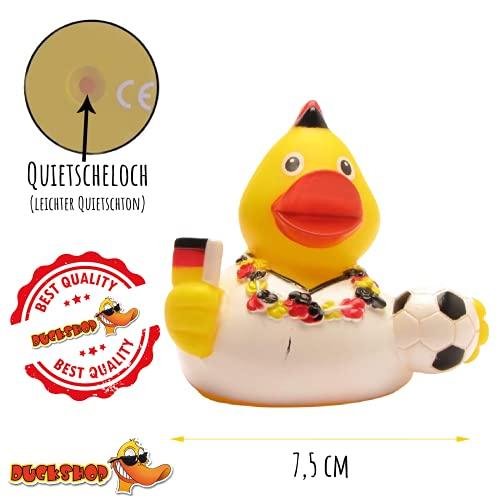 DUCKSHOP I Badeente Deutschland Fan I Quietscheente I L: 7,5 cm - 5