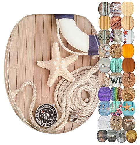 WC Sitz, viele schöne Holz WC Sitze zur Auswahl, hochwertige und stabile Qualität (Maritim)