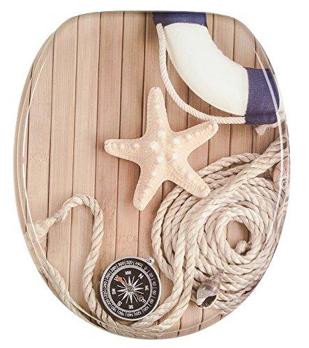 WC Sitz, viele schöne Holz WC Sitze zur Auswahl, hochwertige und stabile Qualität (Maritim) - 2