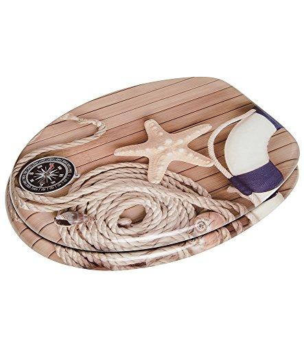 WC Sitz, viele schöne Holz WC Sitze zur Auswahl, hochwertige und stabile Qualität (Maritim) - 6