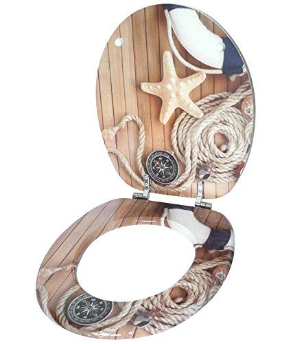 WC Sitz, viele schöne Holz WC Sitze zur Auswahl, hochwertige und stabile Qualität (Maritim) - 3