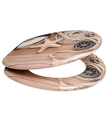 WC Sitz, viele schöne Holz WC Sitze zur Auswahl, hochwertige und stabile Qualität (Maritim) - 7