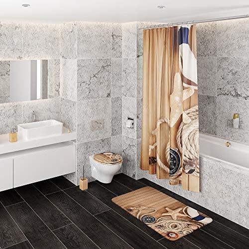 WC Sitz, viele schöne Holz WC Sitze zur Auswahl, hochwertige und stabile Qualität (Maritim) - 4