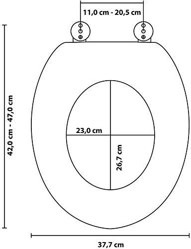 WC Sitz, viele schöne Holz WC Sitze zur Auswahl, hochwertige und stabile Qualität (Maritim) - 8