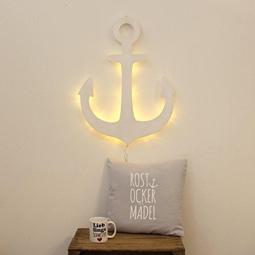 Anker Lampe Wandlampe Wandleuchte maritim Schiffsanker Bootsanker mit LED M2036 ilka parey wandtattoo-welt®