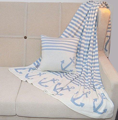 Kissen Happy Style AUF HOHER SEE 7 hellblau/natur 40 x 40 cm - 2