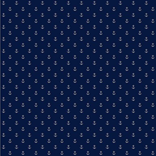 York Wallcoverings Anker Living Spot Tapete, Blue .161, Wallpaper