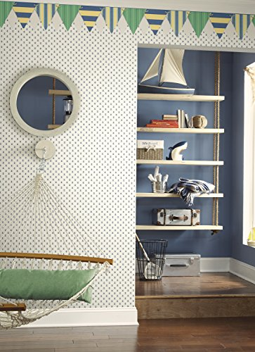York Wallcoverings Anker Living Spot Tapete, Blue .161, Wallpaper - 2